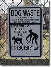 Keep Pet Waste out of the Storm Drains