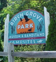 Birch Grove Park Sign
